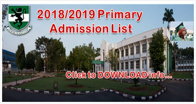 UNN Admission List 2018/19 Released [Primary List] – Check Here