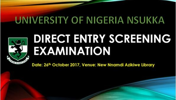 UNN Provides Accommodation for 2017 DE Screening Candidates
