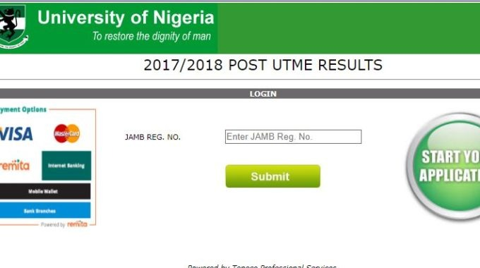 UNN Post UTME Result 2019 Checking Procedure Released [Official]