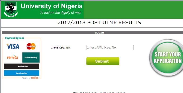 unn post utme result 2017