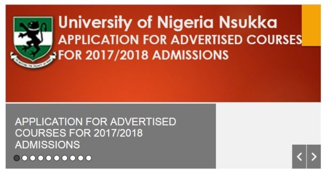 UNN Shopping Form 2017/18 for Supplementary Admissions is Out