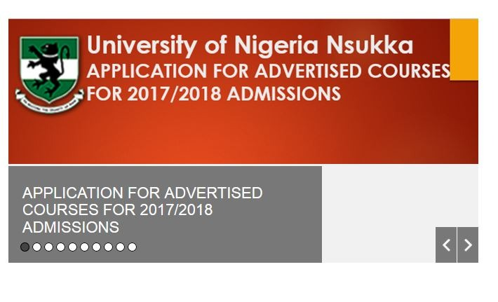 UNN Shopping Form 2017/18  Supplementary Admissions Released