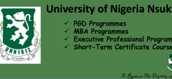 UNN Business School Admission Application Form 2017 / 2018 Out