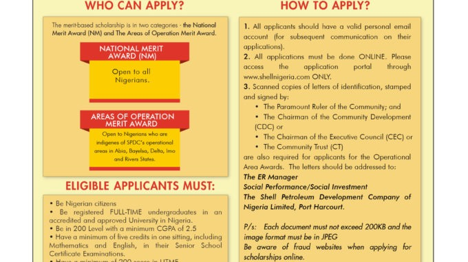 Shell Scholarship 2018 Application for Undergraduates Begins