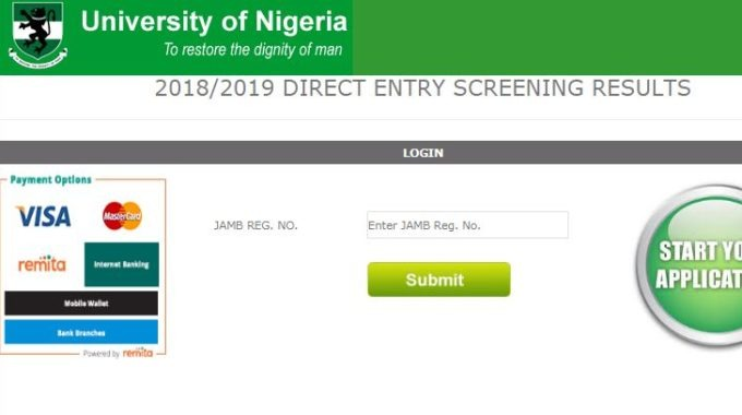 UNN Direct Entry Admission List 2019/2020 is Out – Check