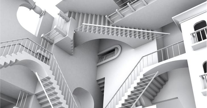 escherian stairwell 3d model