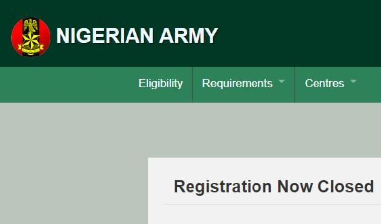 latest news Nigerian army recruitment