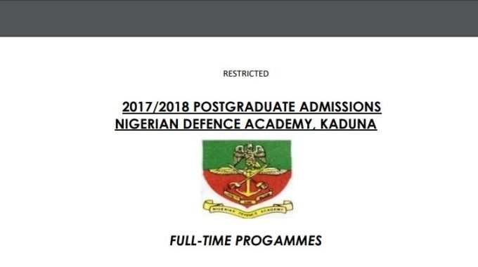 NDA Postgraduate Admission List 2017/2018 is Out – Check Here