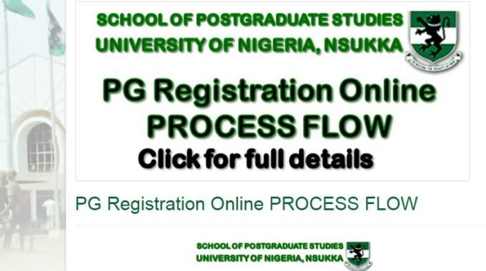 UNN Postgraduate Portal Registration 2018/2019 Commences
