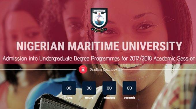 Nigerian Maritime University Admission 2017/2018 has Commenced