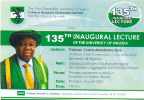 Professor Charle Igwe To Deliver UNN 135th Inaugural Lecture