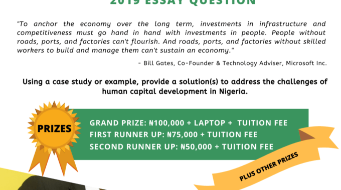 NHEF Scholarship Essay Competition 2019 Application Begins