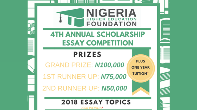 NHEF Scholarship Essay Competition 2018 Application Begins