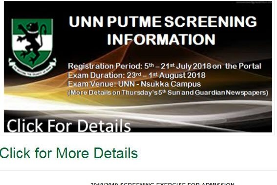 UNN Screening date 2018 – How To Apply for Admission CBT Exam