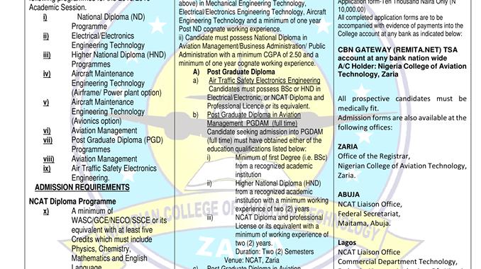 NCAT Zaria Post UTME 2019: Form, Cut off Marks & Registration Details