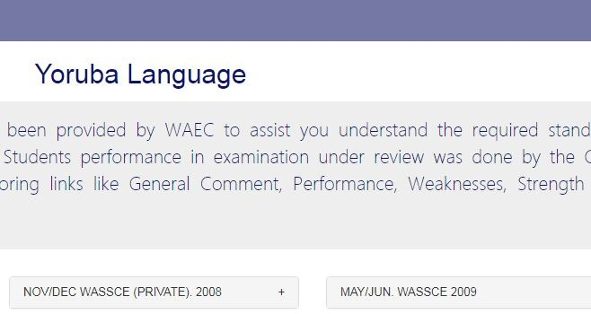 WAEC GCE Yoruba Question 2020 Answers is Out