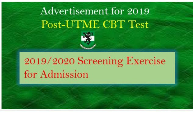 UNN Post UTME Form 2019 is Out — See Cut off Mark & Screening Details