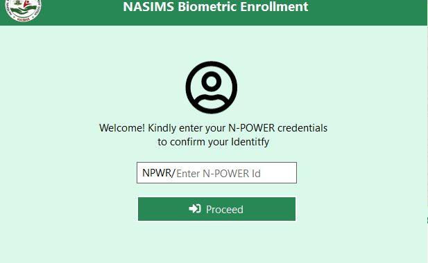 Npower Biometric Enrollment Software Portal for Fingerprint Capturing