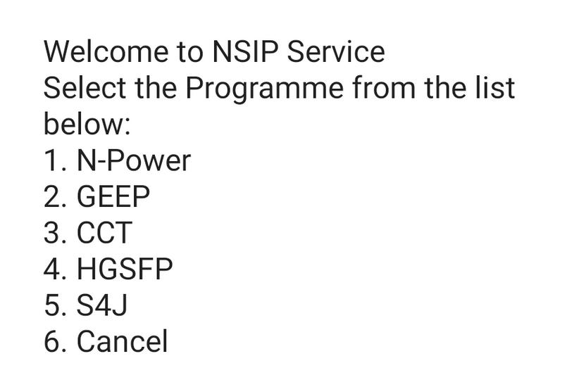 Npower NSIP USSD Code
